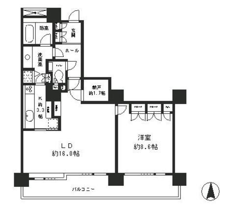 リバーポイントタワー / 10階 部屋画像1