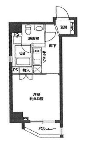 蔵前 3分マンション / 805 部屋画像1