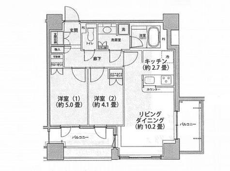 レジディア市ヶ谷 / 1404 部屋画像1