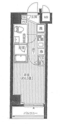 プレール・ドゥーク川崎 / 8階 部屋画像1