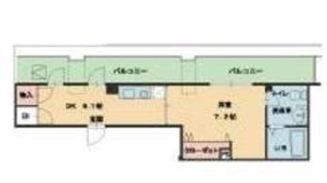 ヴィレ新宿御苑 / 7階 部屋画像1
