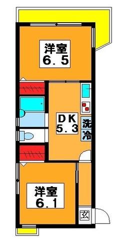 月村マンションNo.22 / 3階 部屋画像1