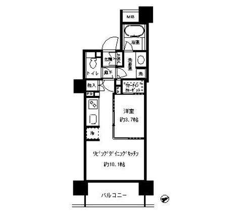 パークホームズ目黒リバーサウスアーバンレジデンス / 1108 部屋画像1
