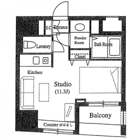 VORT銀座residence(旧クレジデンス銀座タワー1/15) / 7階 部屋画像1
