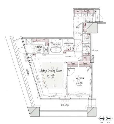 コンシェリア西新宿TOWER'SWEST / 1018 部屋画像1