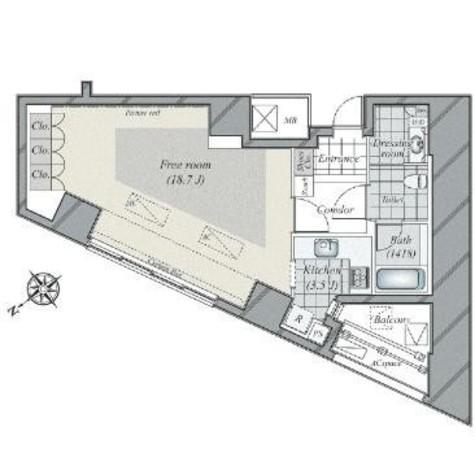 青山ザ・タワー / 6階 部屋画像1