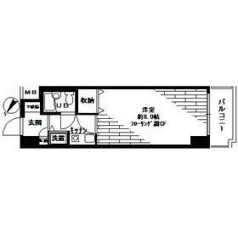 ピュアシティ横浜Ⅱ / 410 部屋画像1