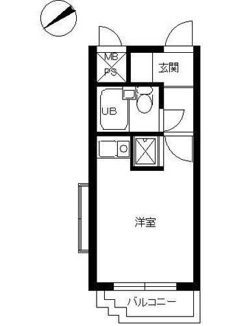 スカイコート横浜弘明寺 / 2階 部屋画像1