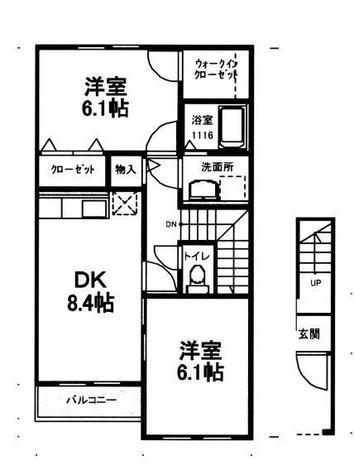 リマーレ1番館 / 2階 部屋画像1
