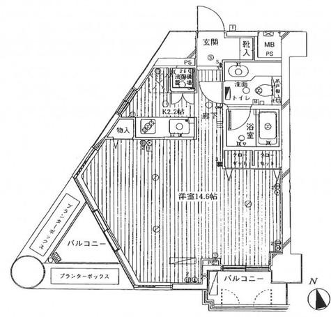 フリーディオ四谷三丁目 / 6階 部屋画像1