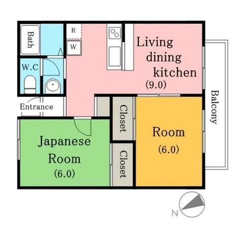 ウスイグリーンハイツ / 2階 部屋画像1