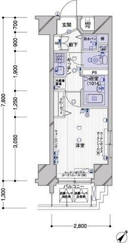 パークウェルツインズ戸越銀座壱番館 / 8階 部屋画像1