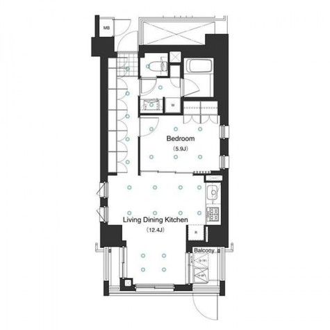 アパートメンツ白金三光坂 / 3階 部屋画像1