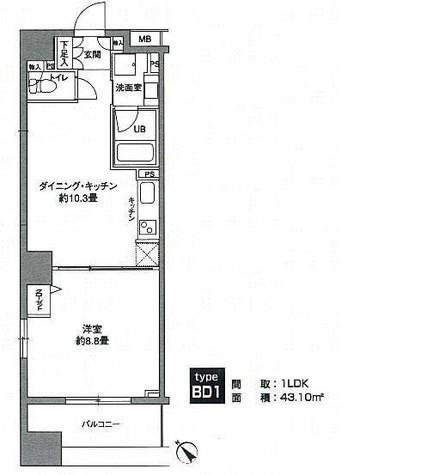 KWレジデンス新川 / 706 部屋画像1