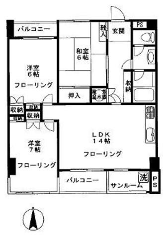 瀧澤ハウス / 8階 部屋画像1