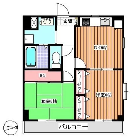 大森町 18分マンション / 203 部屋画像1