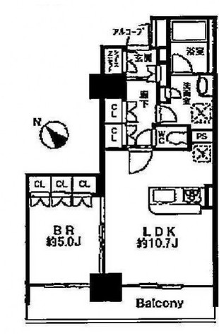 グレンパークG-WEST / 1504 部屋画像1