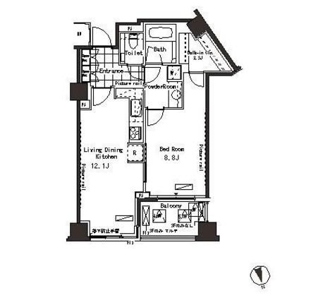パークアクシス恵比寿 / 4階 部屋画像1