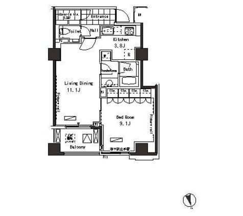 パークアクシス恵比寿 / 7階 部屋画像1