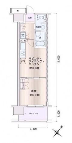 豊洲レジデンスC棟 / 3階 部屋画像1