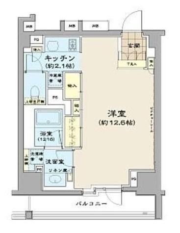 パークハビオ八丁堀 / 5階 部屋画像1