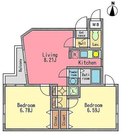 レジディア池上 / 3階 部屋画像1