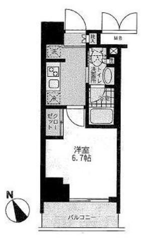 門前仲町レジデンス参番館 / 9階 部屋画像1
