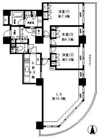 リバーポイントタワー / 31階 部屋画像1