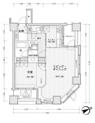 ドゥーエ銀座イーストⅡ / 6階 部屋画像1