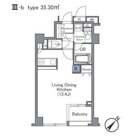 セントラルクリブ六本木Ⅰ / 1103 部屋画像1
