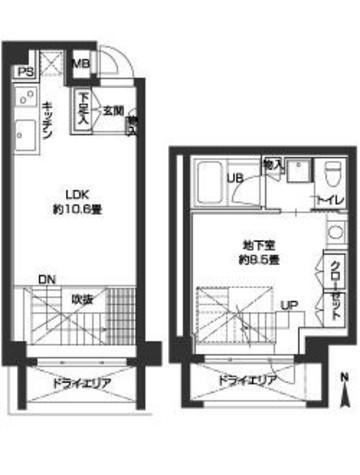 カスタリア尾山台 / 103 部屋画像1