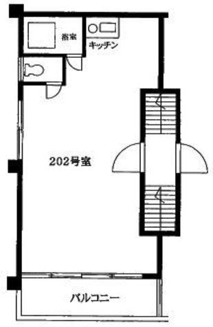 神宮前マンション / 202 部屋画像1