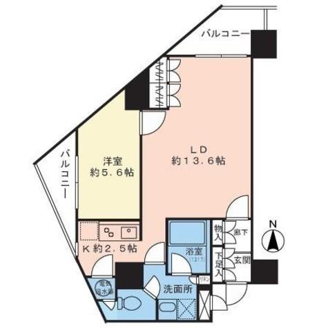 エクセレント麻布十番 / 9階 部屋画像1
