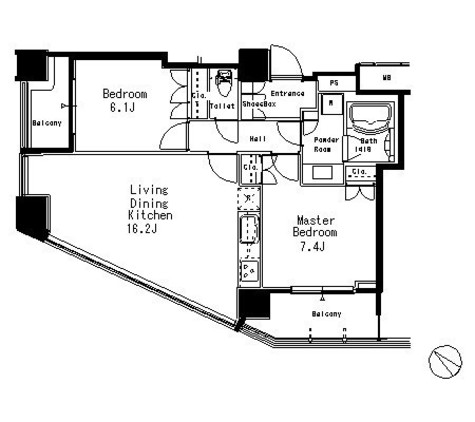 MFPR目黒タワー / 18階 部屋画像1