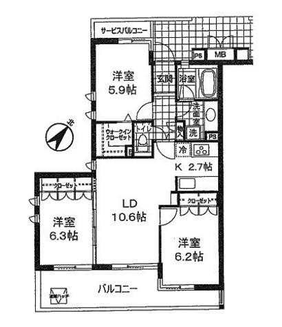ホーフ横浜旭ヶ丘 / 1階 部屋画像1