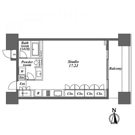 レジディア芝浦KAIGAN(旧KAIGAN APARTMENT) / 2階 部屋画像1