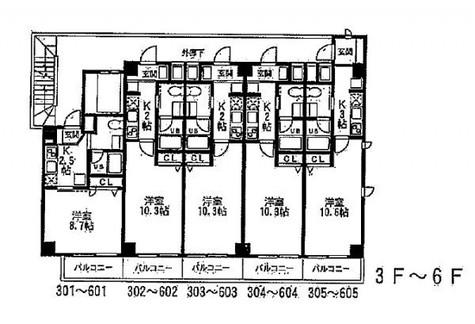 VICOLO横浜反町(Vicolo横濱反町) / 305 部屋画像1