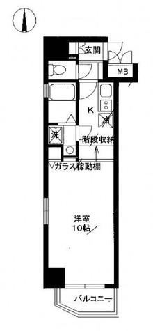 レジディア上野御徒町 / 10階 部屋画像1