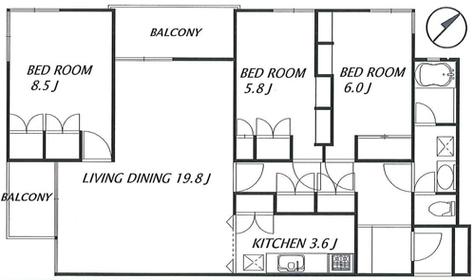 ガーデン目黒 / 2階 部屋画像1