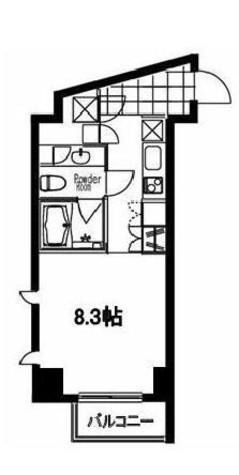 フレンシア麻布十番サウス / 2階 部屋画像1