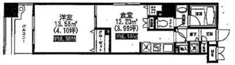 レジディア上野池之端 / 801 部屋画像1