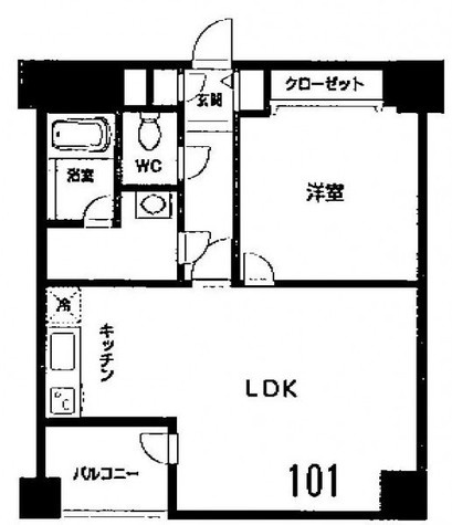 HF高輪レジデンス(旧:シングルレジデンス高輪) / 101 部屋画像1