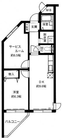 本駒込メゾン・モンブラン / 2階 部屋画像1
