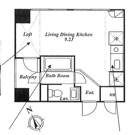 ローズハウス麻布十番 / 4階 部屋画像1