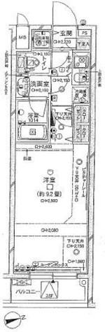 パレステュディオ新宿御苑前 / 3階 部屋画像1