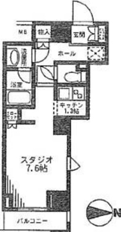 レジディア九段下 / 8階 部屋画像1