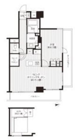 HF麻布十番レジデンス(旧:コスモグラシア麻布十番) / 801 部屋画像1