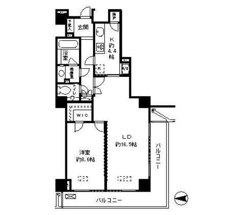 恵比寿ガーデンテラス弐番館 / 4階 部屋画像1