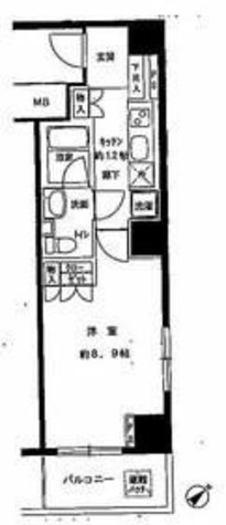 千石 1分マンション / 8階 部屋画像1