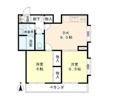 大和東コーポ / 305 部屋画像1